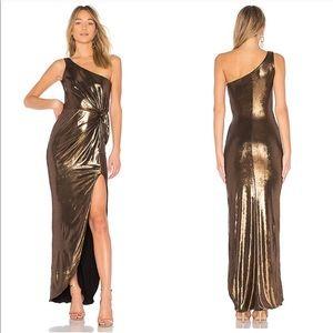 Nookie X REVOLVE Disco Drape Dress in Bronze
